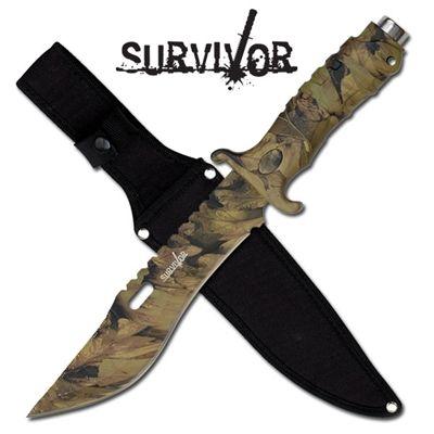 SURVIVOR 13 INCH ALL CAMO SURVIVAL KNIFE