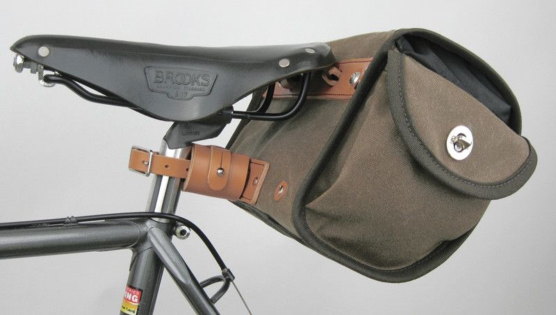 Acorn Bags Traditional Bicycle Luggage Leather Bicycle Cycling Bag Brompton Bicycle