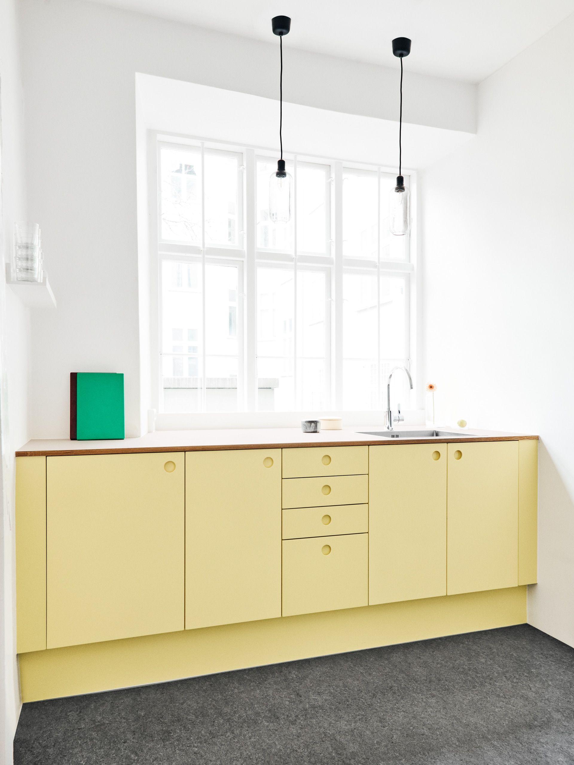 Inspiration Sweet Sneak Studio In Copenhagen Yellow Kitchen Yellow Cabinets Yellow Kitchen Designs
