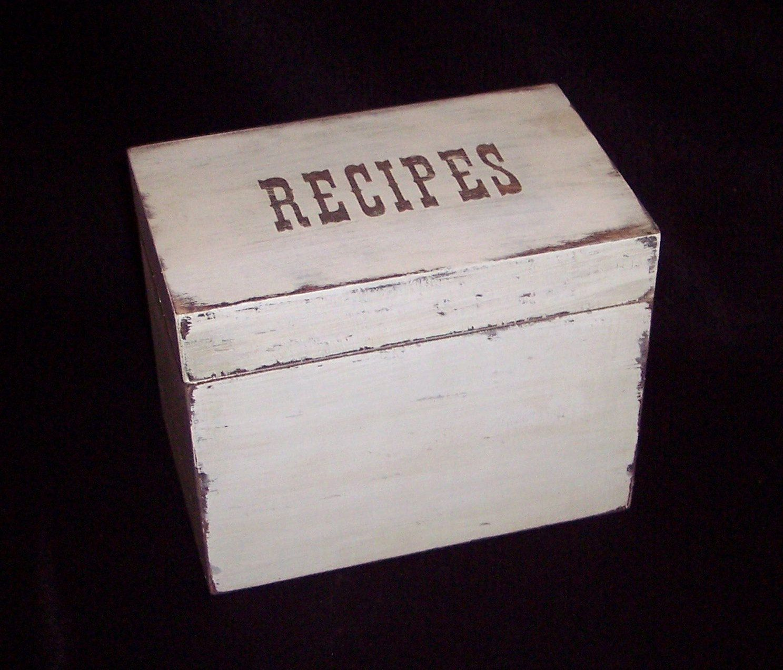 recipe box shabby chic cottage chic shabby cottage chic 4x6 rh pinterest co uk  shabby chic recipe box target