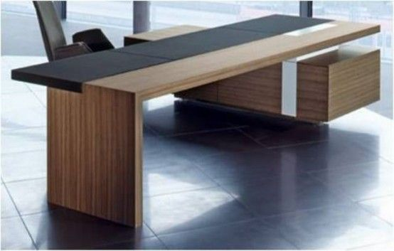 43 awesome creative desk designs 43 cool creative desk with ceramic floro and large wooden - Wood Desk Design