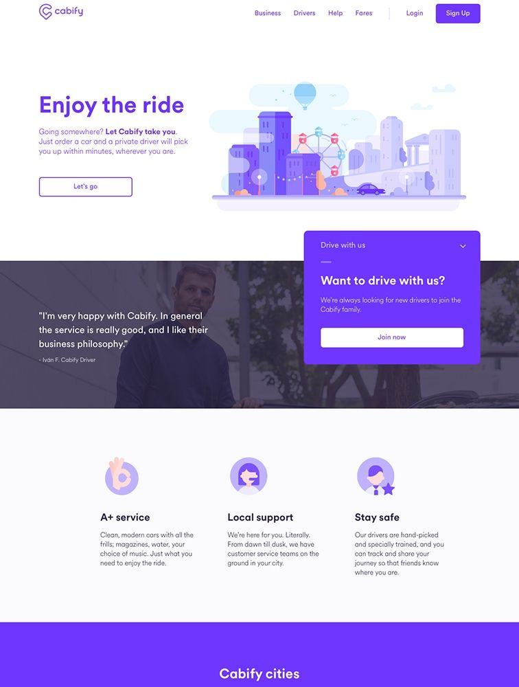 Enjoy The Ride Web App Design Website Design Inspiration Web Design