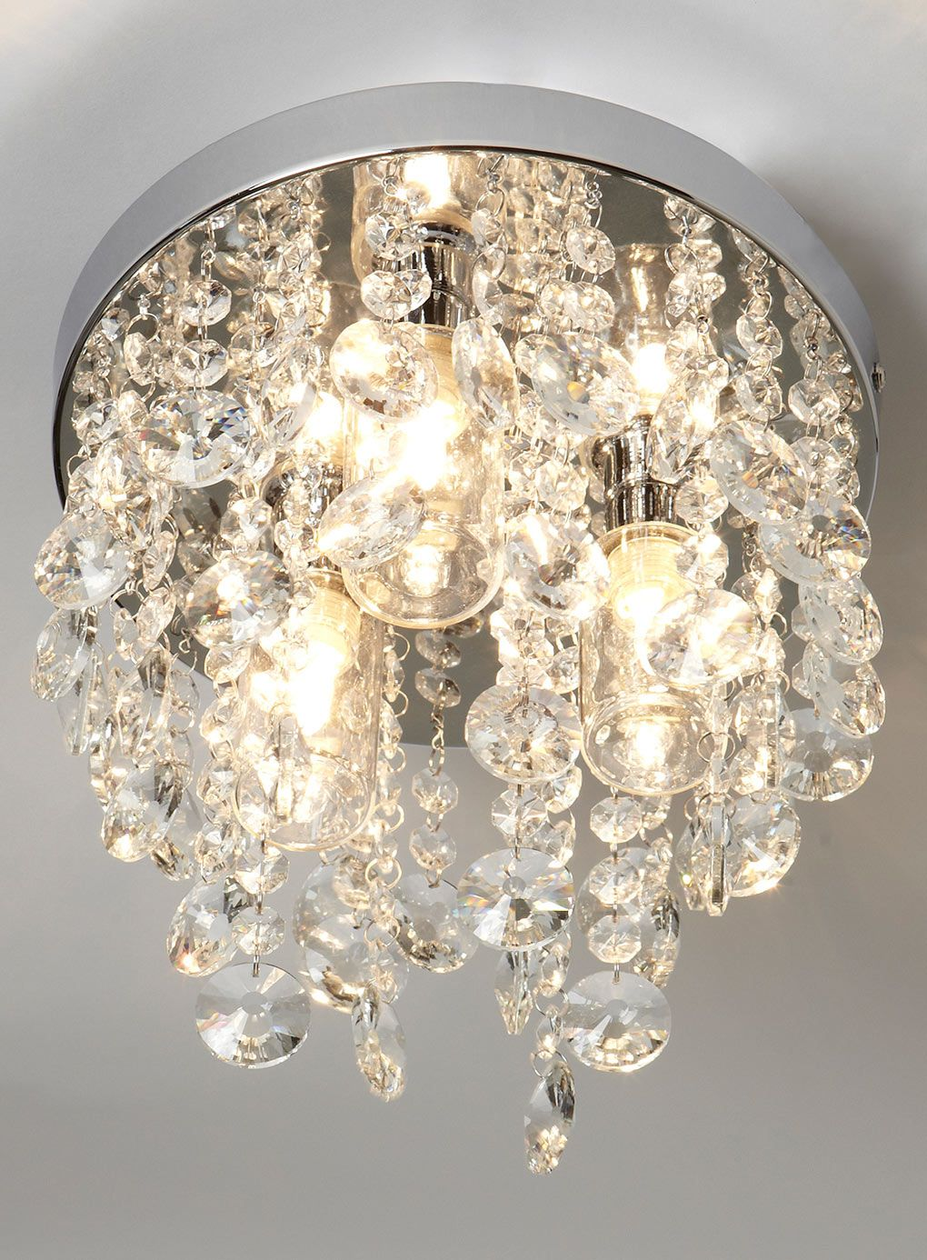 Bathroom Chandeliers Bhs bedroom - chrome cygnus 3 light ceiling fitting - bhs - £60 out of