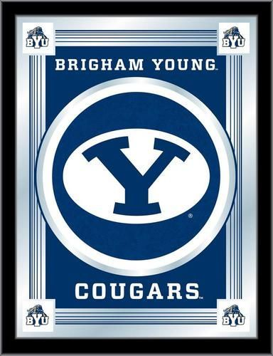 Byu Brigham Young University Logo Mirror Wall Art Mirror Wall Art Logos University Logo