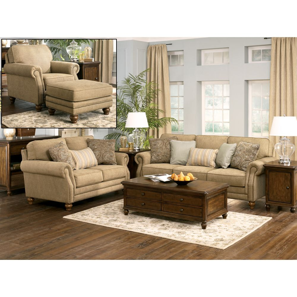 Prelude Champagne Living Room Set Sofa Loveseat And Chair  For Impressive Living Rooms Sets Inspiration Design