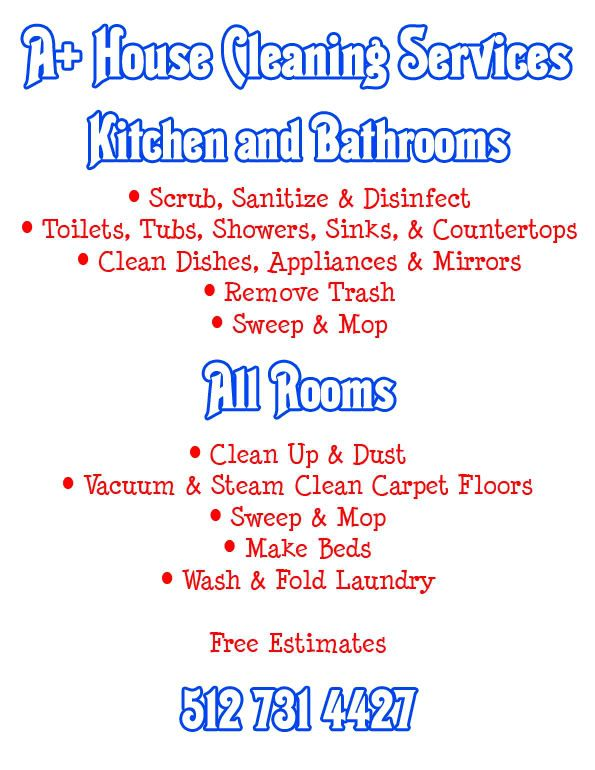 Perfect House Cleaning Flyers Images
