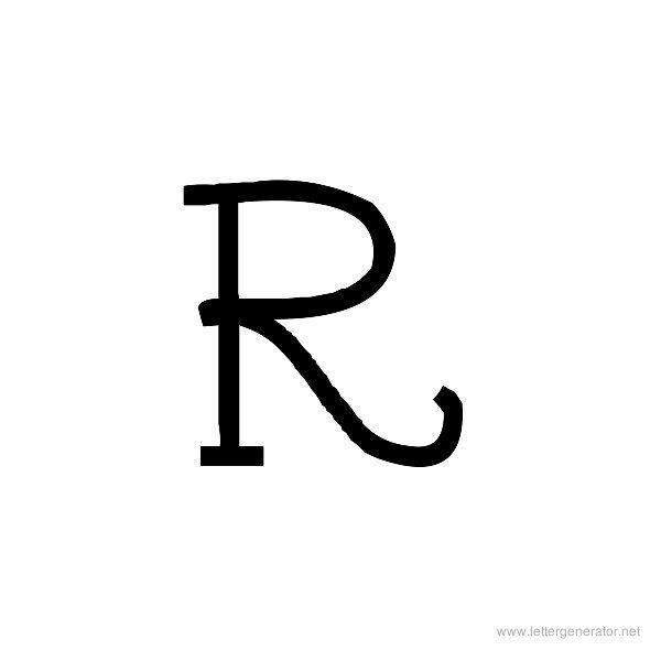 Tattoo Font Alphabet R