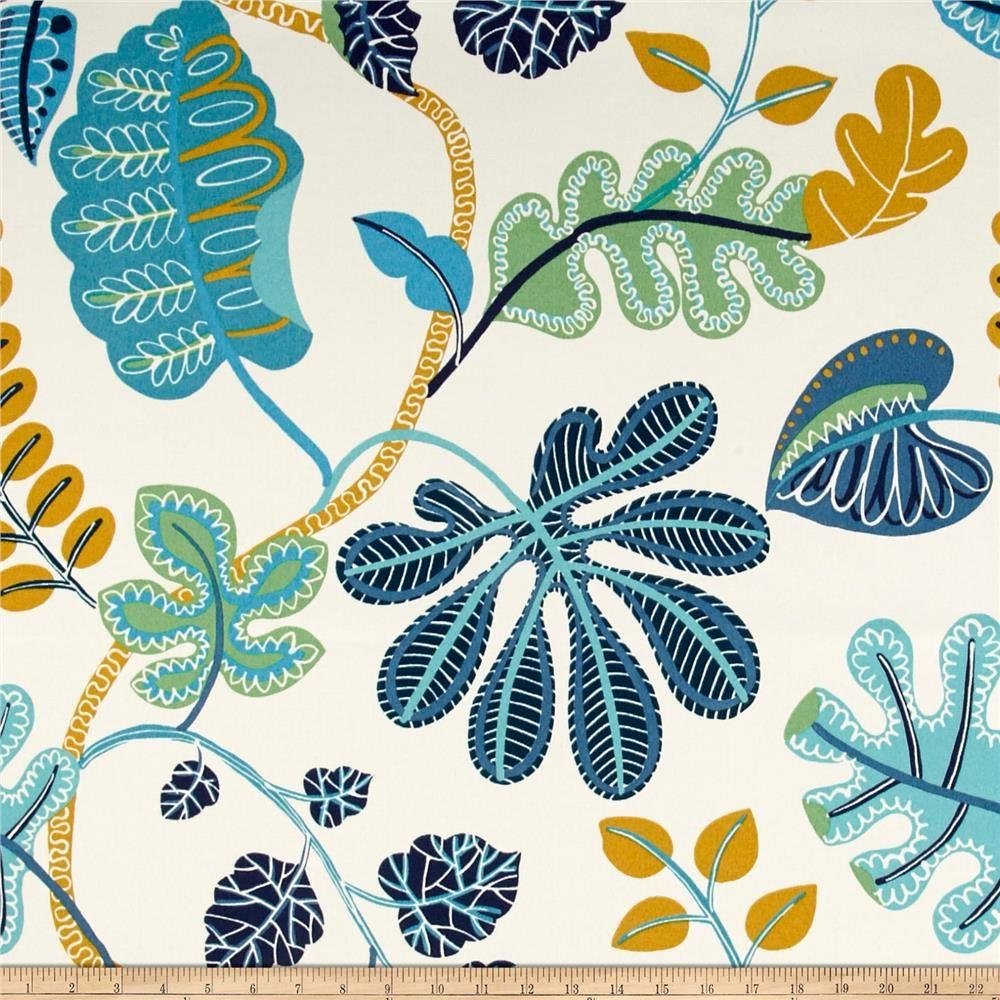 Waverly Sun N Shade A New Leaf Cerulean From Fabricdotcom