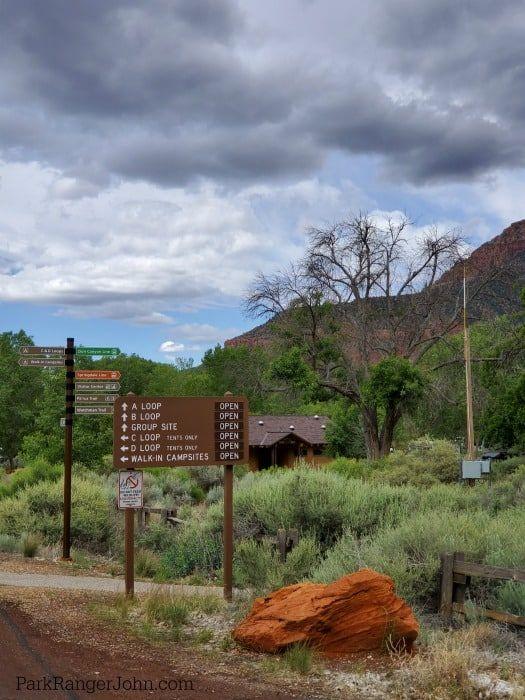 Watchman Campground - Zion National Park | Park Ranger ...