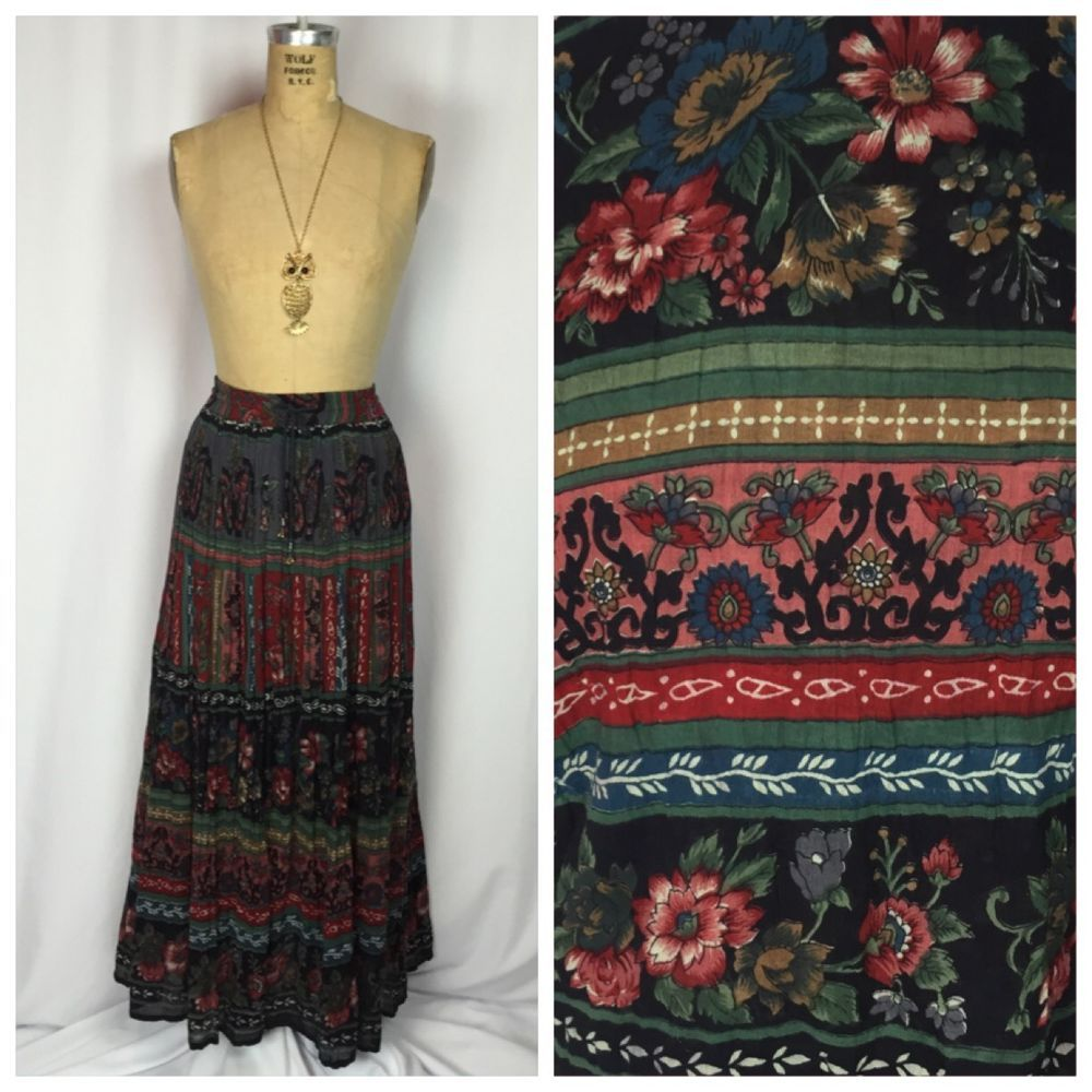 Broomstick Witchy Hippie Bohemian Maxi Festival Skirt Plus Size | eBay