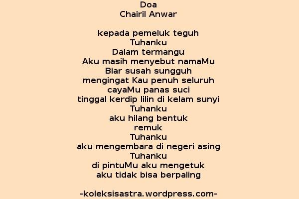 Doa Kutipan Terbaik Buku Puisi Puisi