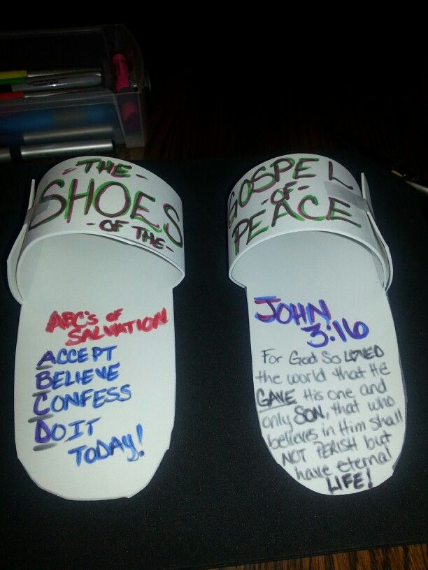 Shoes Of The Gospel Of Peace Made From Foam Sheets