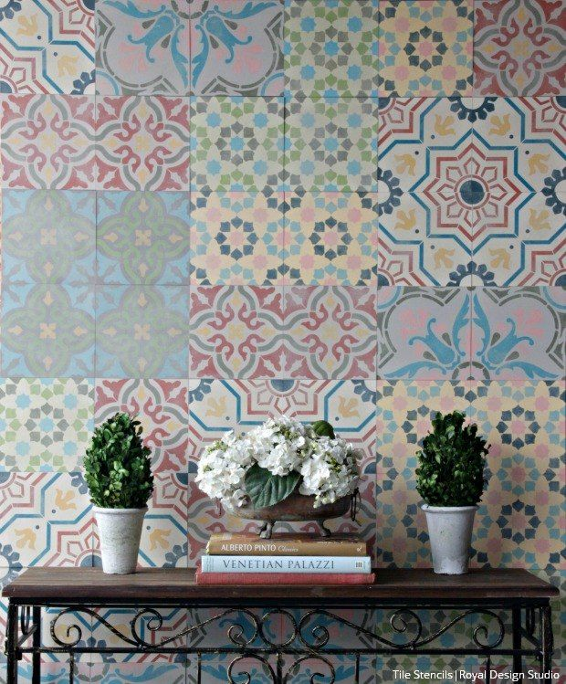 Wall Decorative Tiles Interesting How 15 Creative People Fill Their Empty Walls  Encaustic Tile Decorating Inspiration