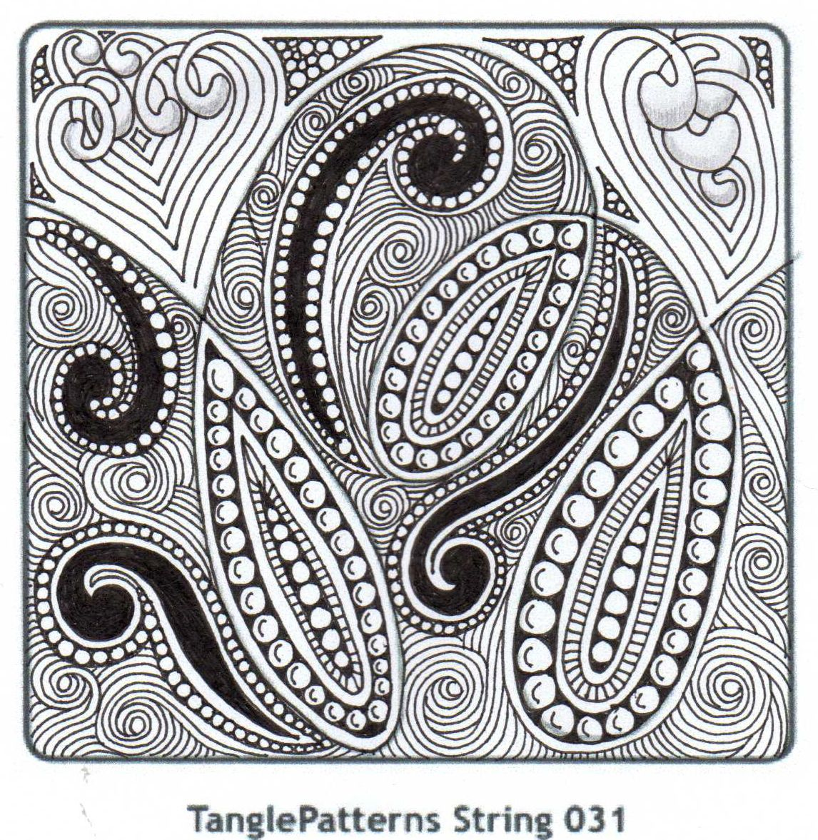 Banar designs tangle patterns string challenge colour it
