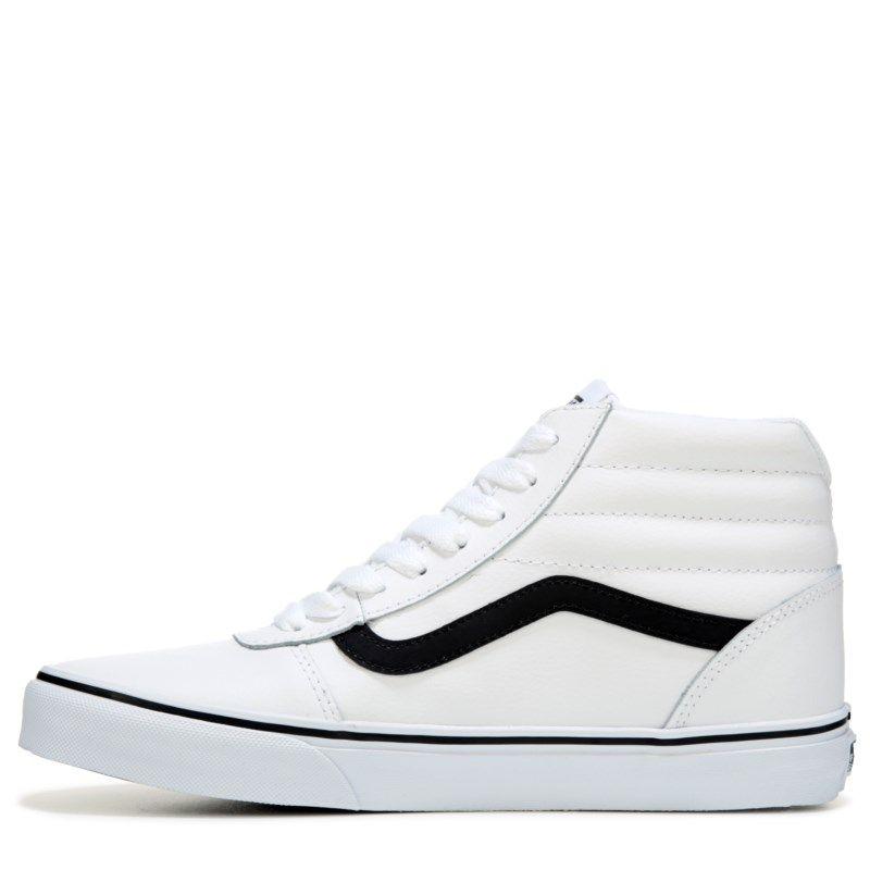 promo code 63588 91836 Vans Men s Ward High Top Leather Sneakers (White Black) - 11.5 M