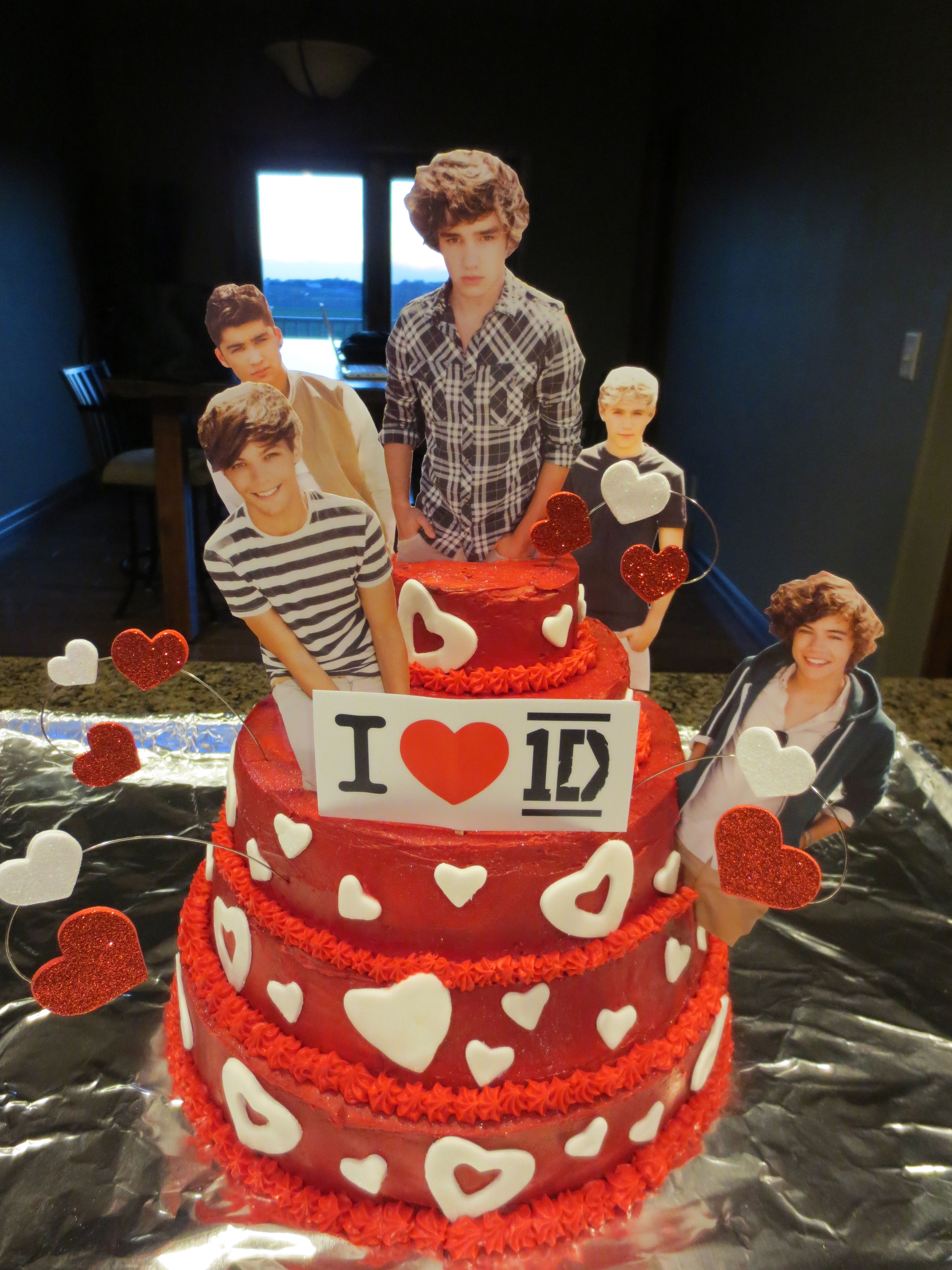 One Direction Cake For Chs One Direction Birthday One Direction