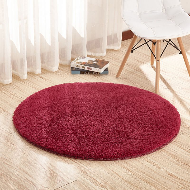 Lamb Velvet Round Carpet Fitness Toga Mat Hanging Basket