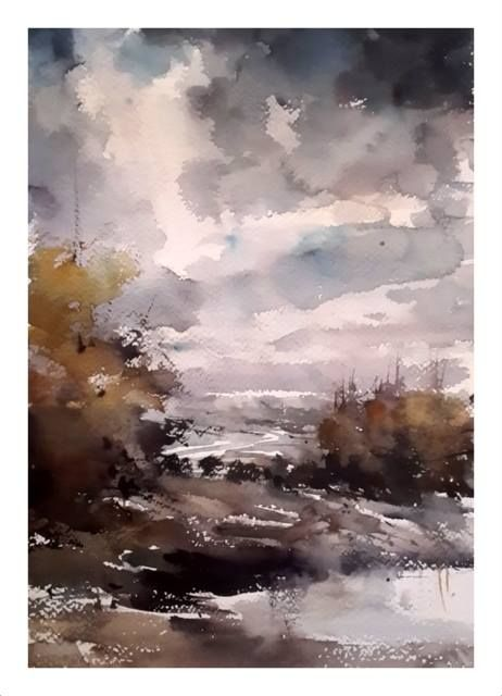 Orhan Gurel Landscape Paintings Abstract Painting Watercolor