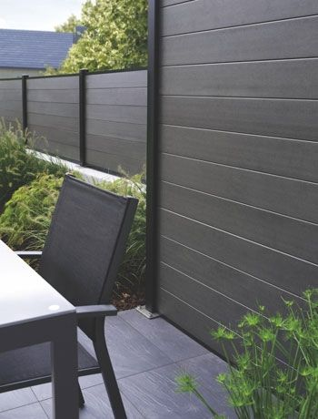 wood plastic composite fence - very smooth  low maintenance