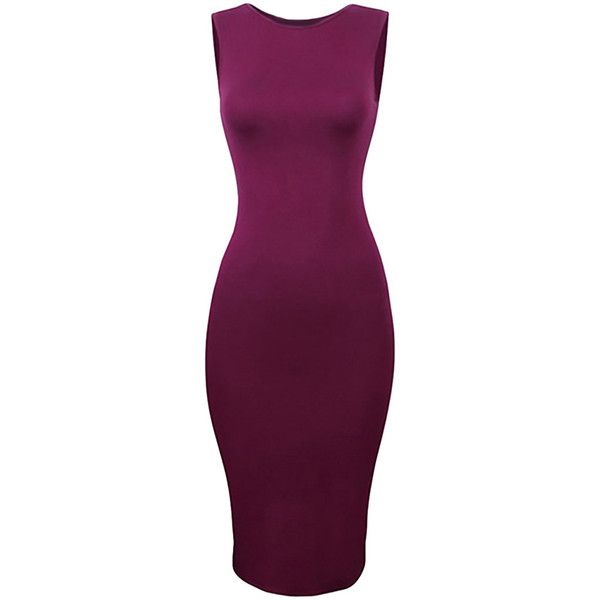 Ruby Ladies Sexy Plain Tight Bodycon Dress ($14) ❤ liked on ...
