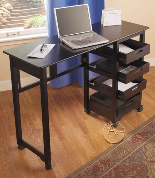 Fold Roll Away Writing Desks Computer Laptop Sewing Portable Compact Dorm Room Fold Away Desk Portable Furniture Desk