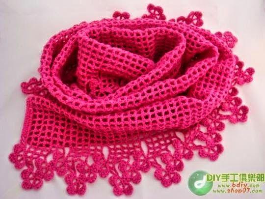 Esquemas crochet para tejer pashmina | Gorros y Bufandas | Pinterest ...