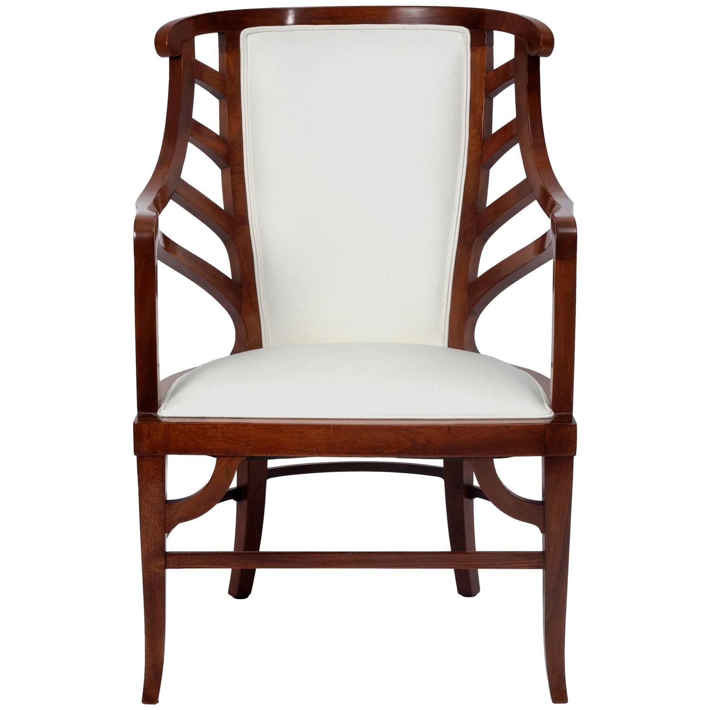 Walnut Art Nouveau Armchair in the Manner of Henry van de Velde ca ...
