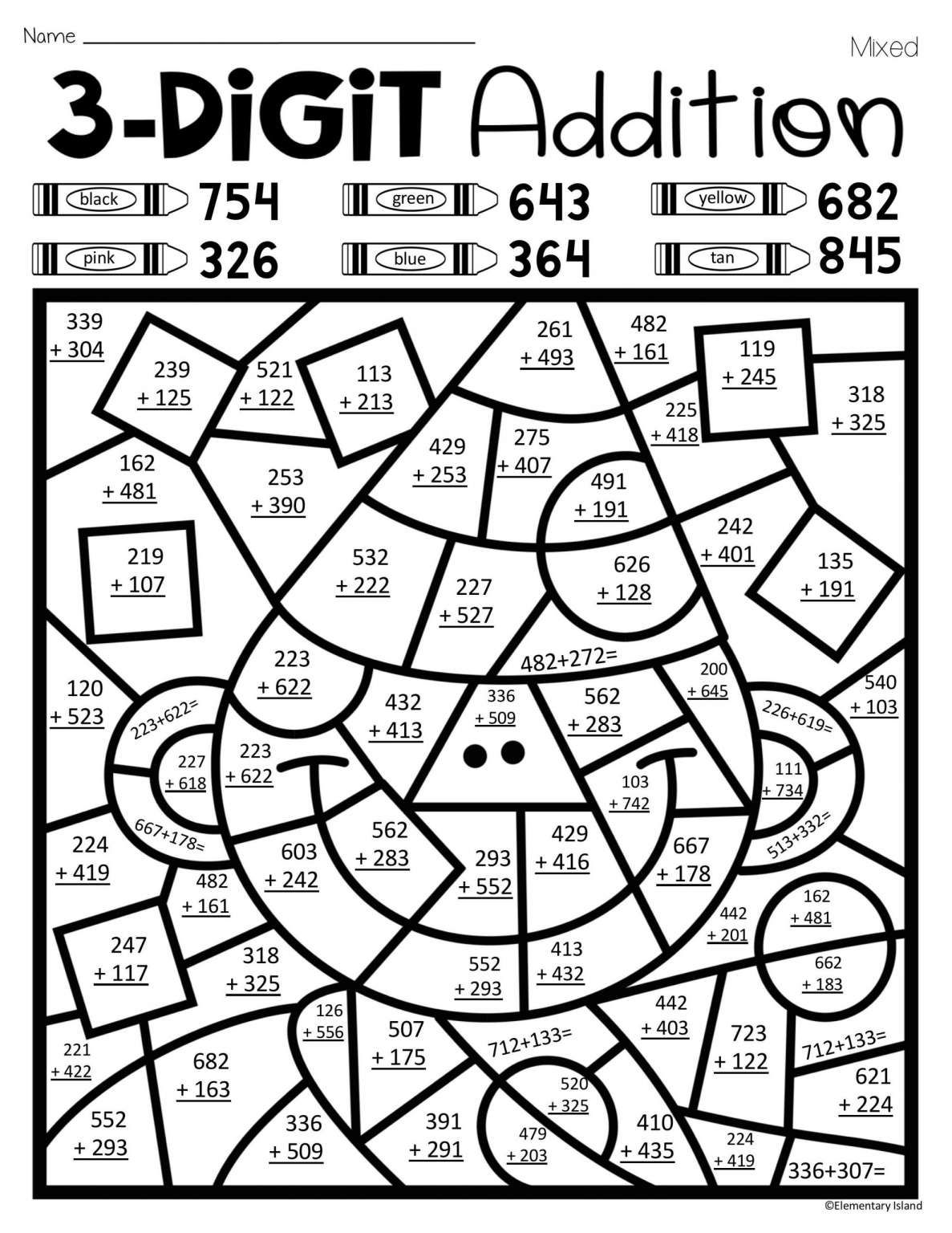 15 Math Coloring Worksheets 2nd Grade