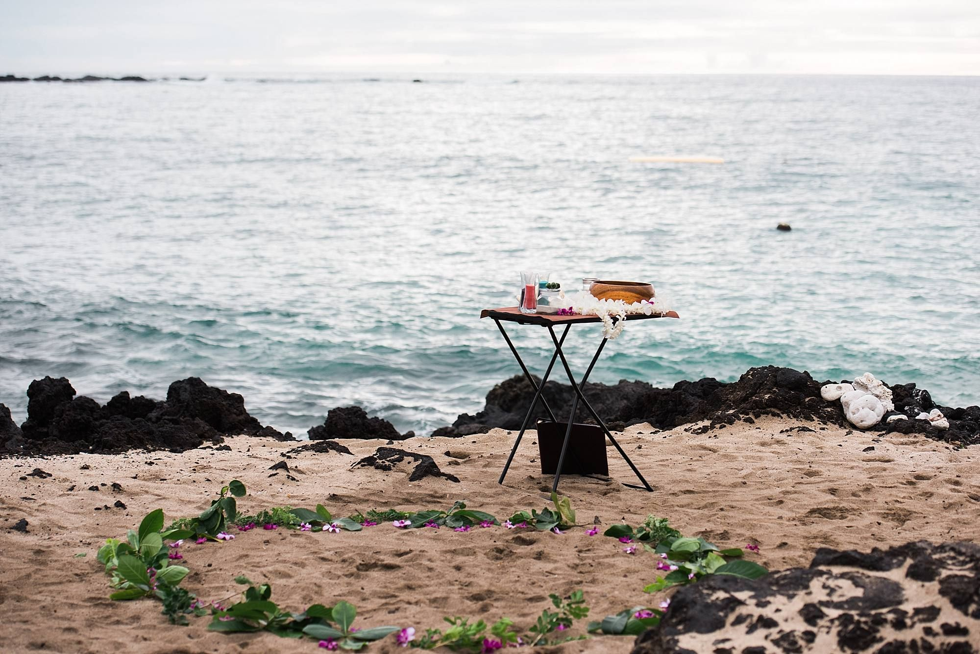 Big island wedding setup beach elopement big island