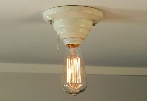 Ceiling Mount Light With Pull Chain Interesting Flush Mount Antique Porcelain Pull Chain Ceiling Light $14999 With Design Decoration