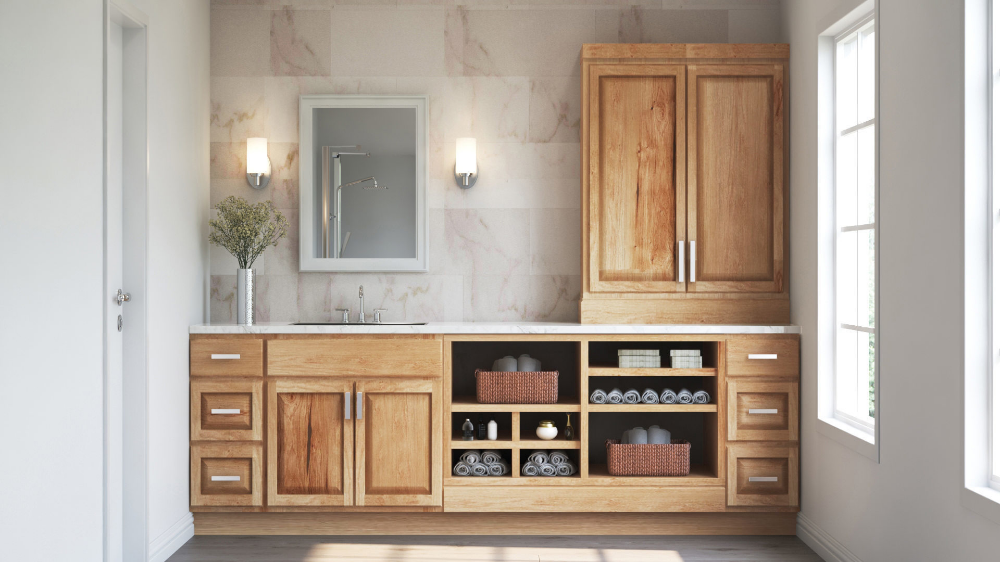 Best Hampton Wall Kitchen Cabinets In Natural Hickory – Kitchen 400 x 300