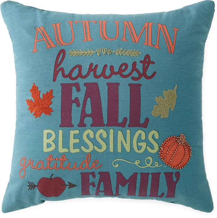 JCP HOME JCPenney HomeTM Autumn Words Square Decorative Pillow Delectable Jcpenney Home Decor Accents