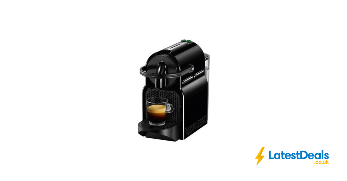 NESPRESSO by Magimix Inissia Coffee Machine Black at