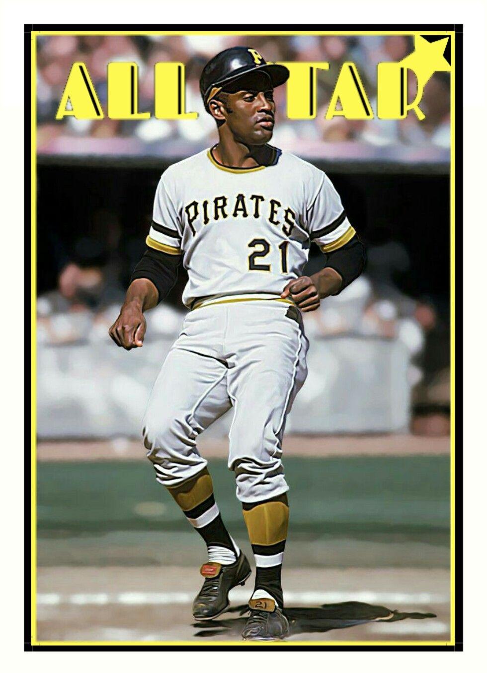 All_Star custom baseball card Roberto Clemente photo art