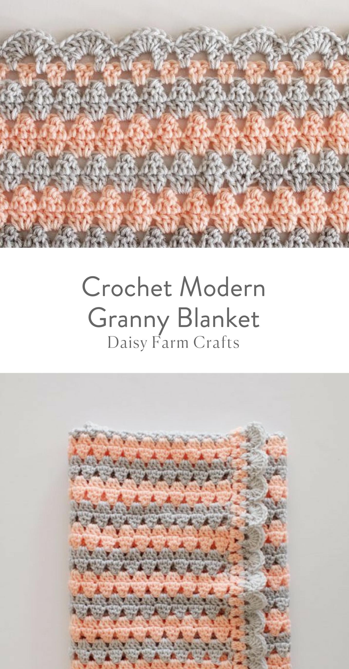 Free Pattern - Crochet Modern Granny Blanket | Crochet Patterns ...