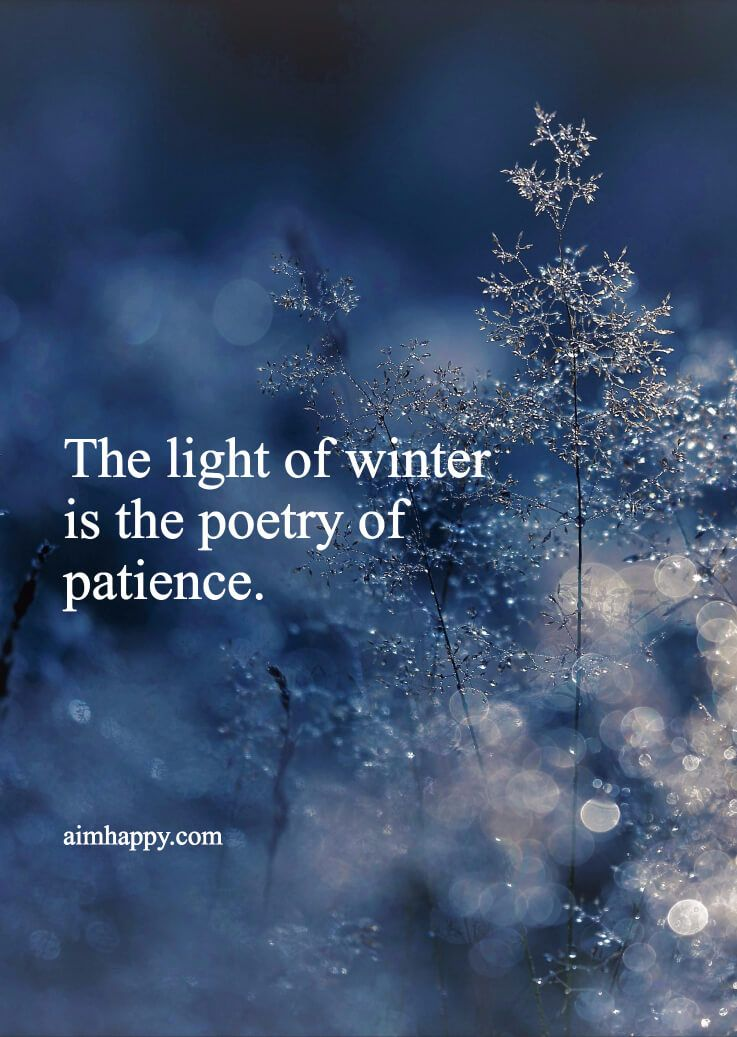 And Poems Winter Snowy Quotes