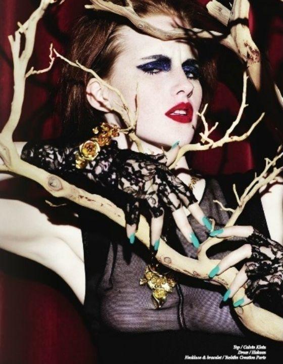 Photo of Schön Magazine # 17 –  How to pass eyeliner  – #jewelryeditorial #leatherjewelr…