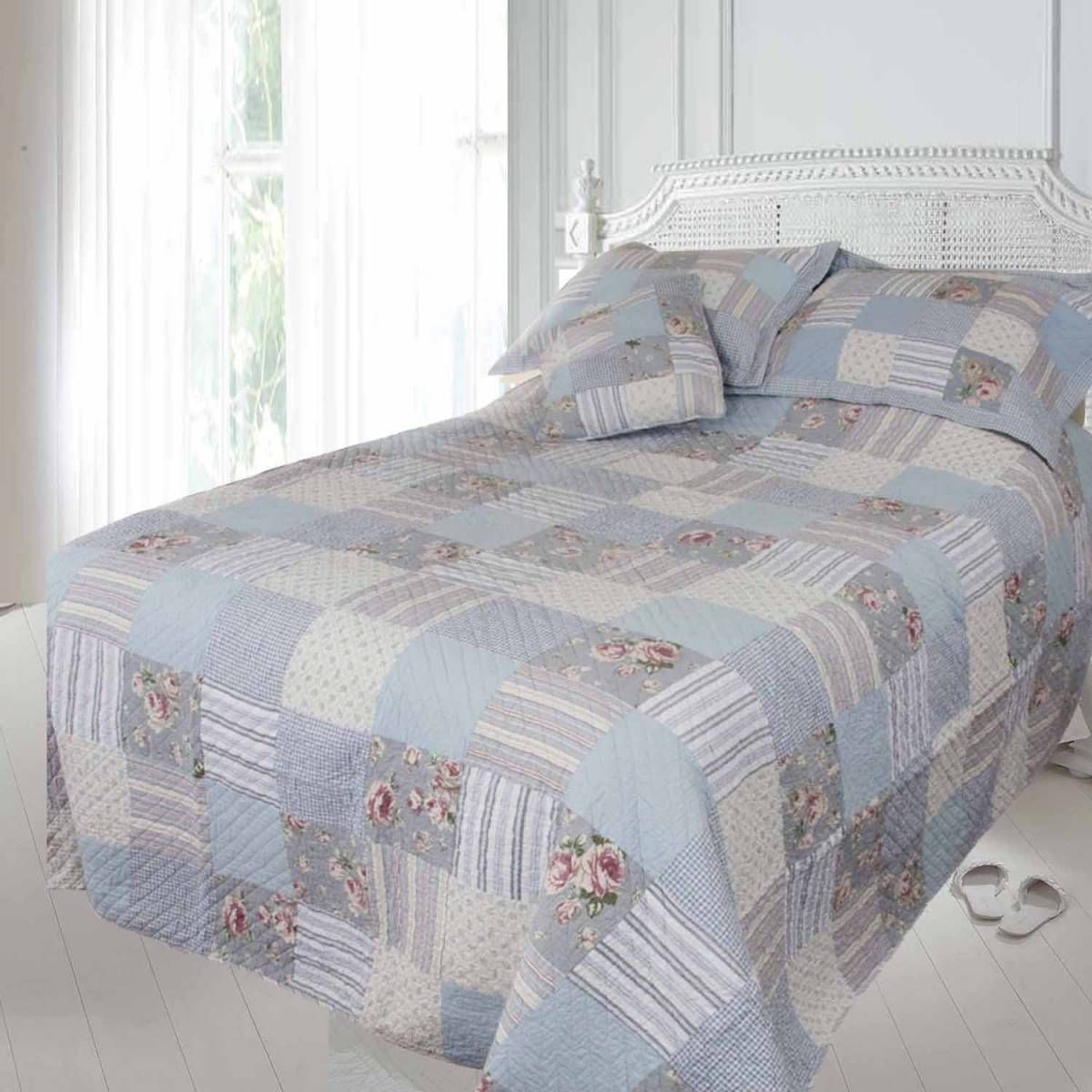 Blue Patchwork Quilt | Eiderdown design ideas | Pinterest ... : patchwork comforters throws and quilts - Adamdwight.com