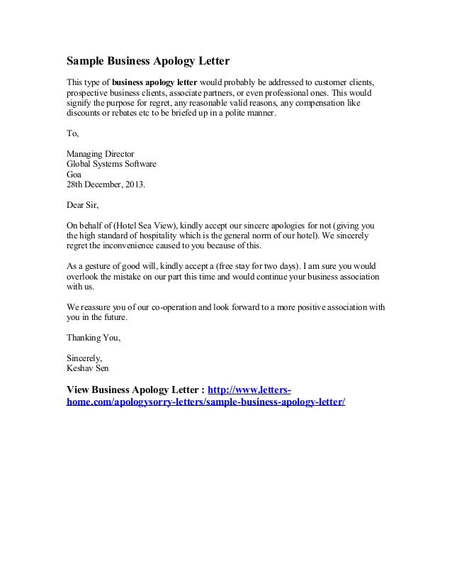 personal apology letter sample hashdoc format for best template