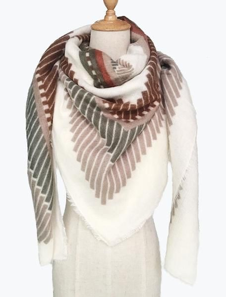 Colorful Geometric Blanket Scarves – ILYMIX