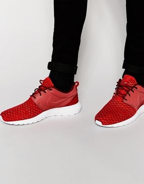 half off 288cc 3cb7d ... spain roshe run trainers by nike flyknit with smooth overlay lace up  fastening signature swoosh logo