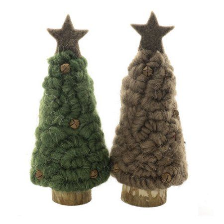Shea S Wildflowers Wooly Christmas Tree With Star Christmas Christmas Tree Decorations
