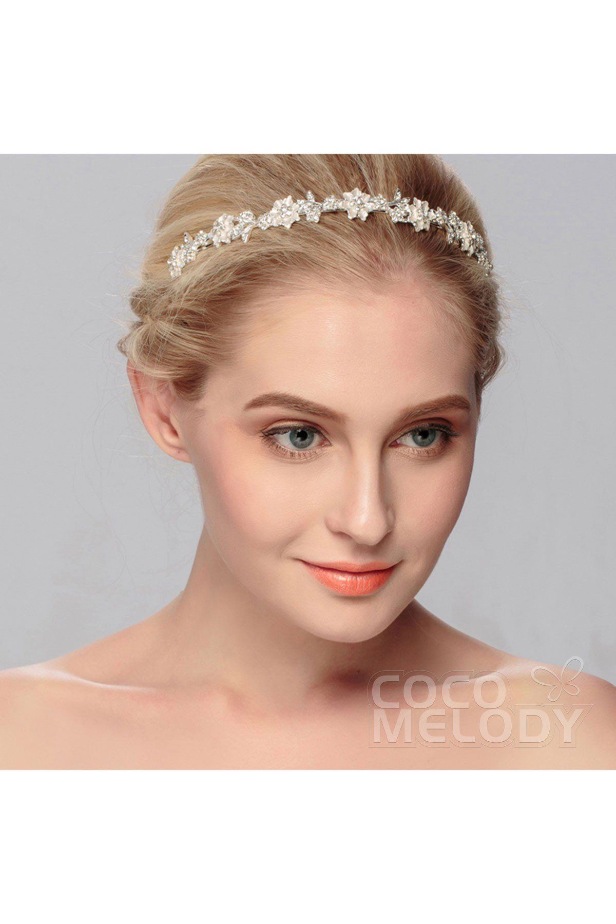 ... Bridal Head Piece Women Party Hair Accessories By. Trendy Silver Cloud Alloy  Wedding Tiara with Crystal TS-J457 2569071303e2