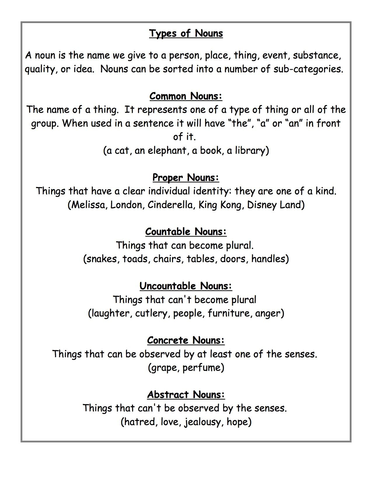 May 8 Types Of Nouns What S New At Free Teacher Worksheets Types Of Nouns Nouns Teacher Worksheets [ 1650 x 1275 Pixel ]