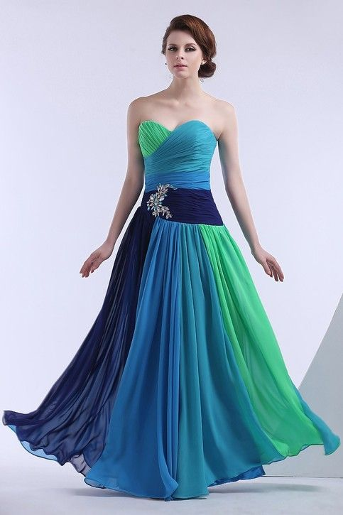 Waistline: Natural Fabric Type: Chiffon Dresses Length: Floor-Length Silhouette: Beach Neckline: Sweetheart Sleeve Length: Sleeveless Decoration: Beading Image Type: Actual Images Material: Polyester Built-in Bra:Yes