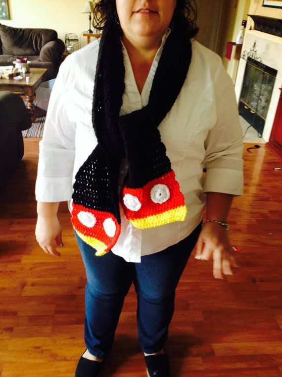 My cute new Mickey Mouse scarf. | Crochet : shawls crowls wraps ...