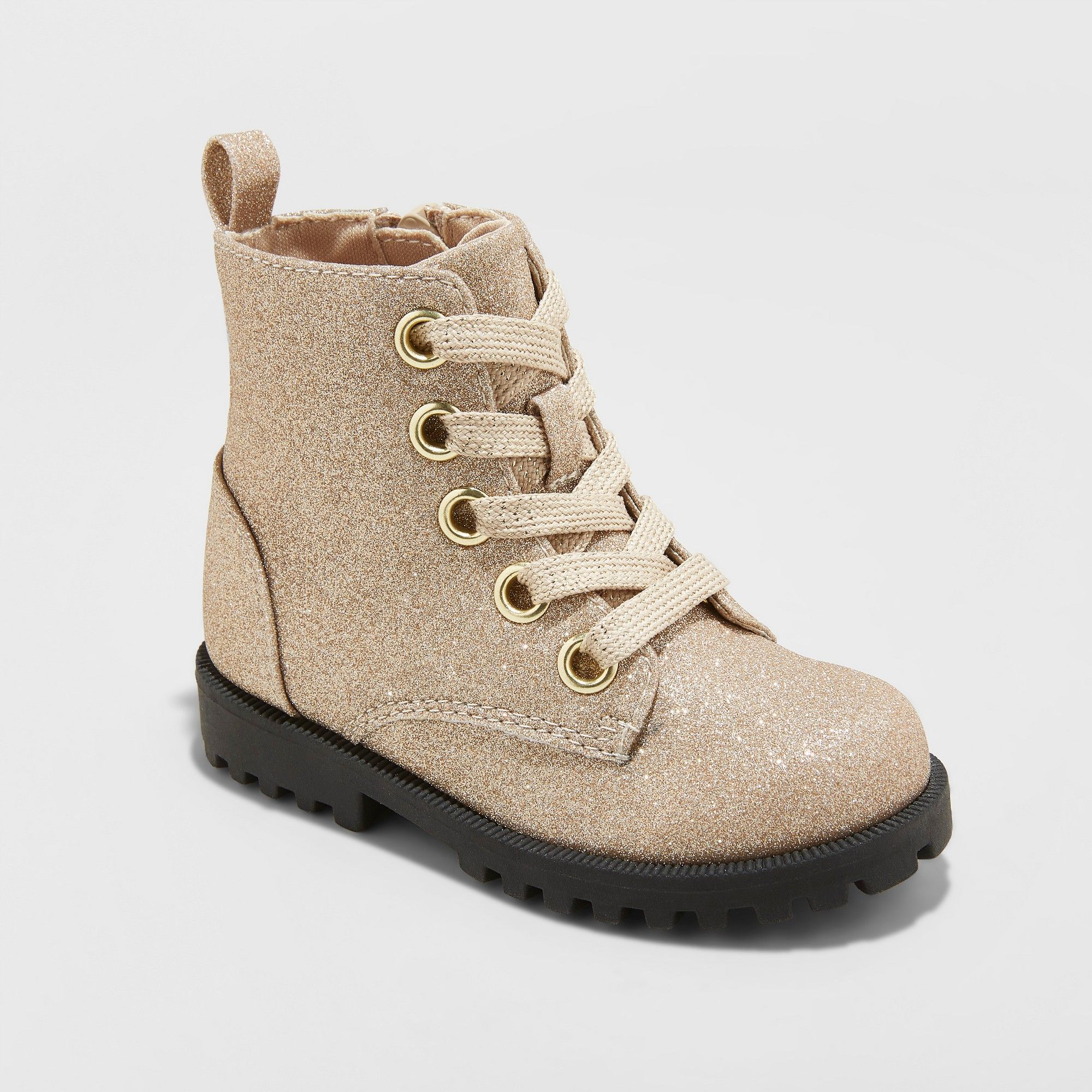 7144d122342a Toddler Girls  Arabella Glitter Ankle Boots - Cat   Jack Gold 9 in ...