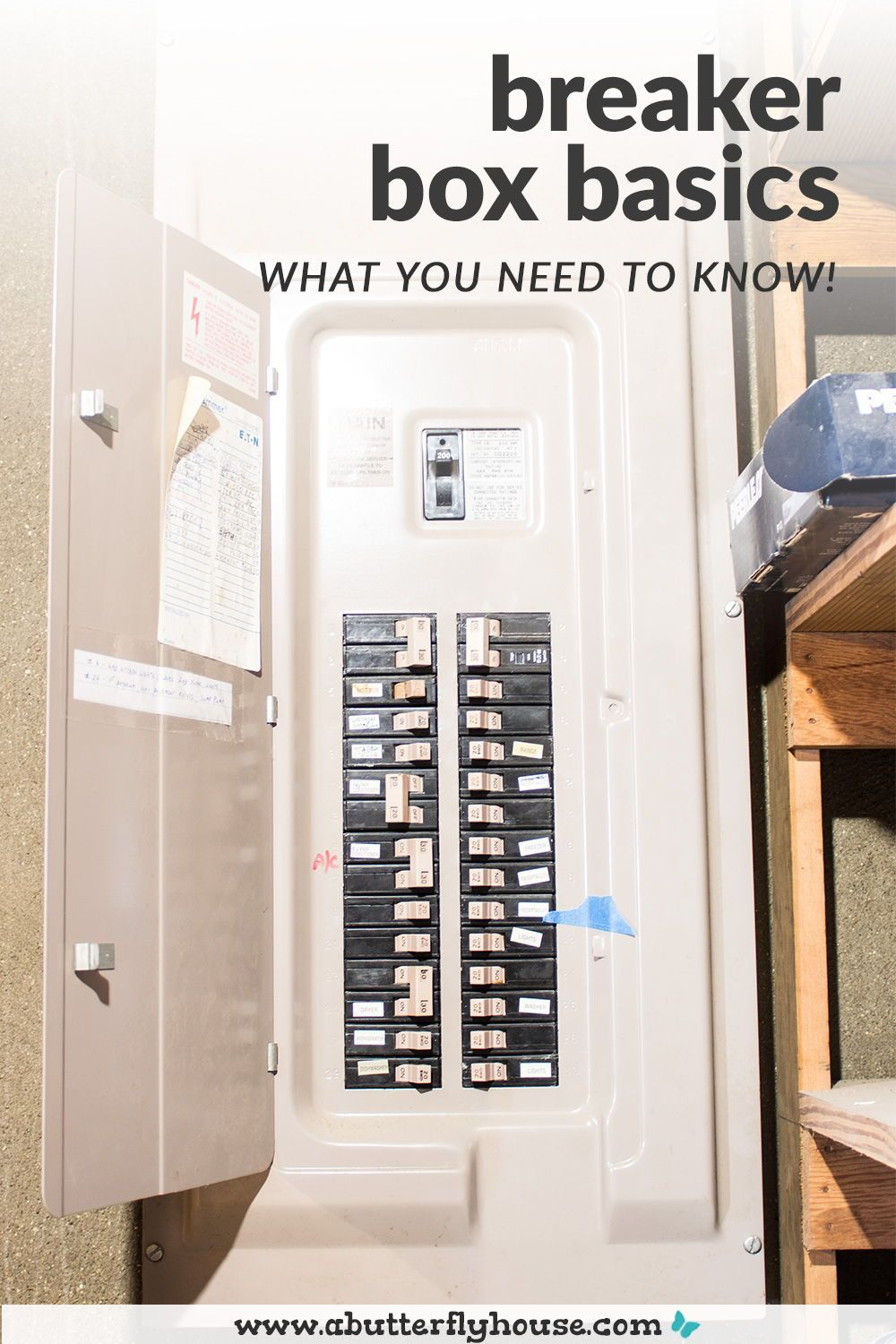 Breaker Box Basics What You Should Know Diy Projects To Improve Your Home Breaker Box Home Repairs