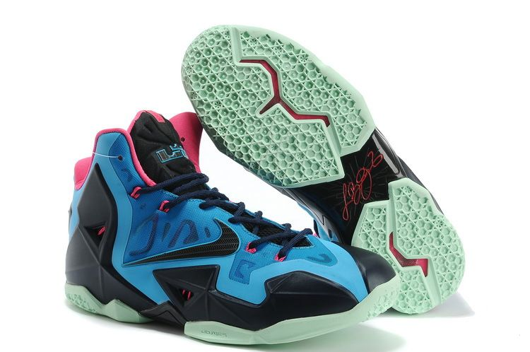 Lebron 11 Top Sale Blue Black