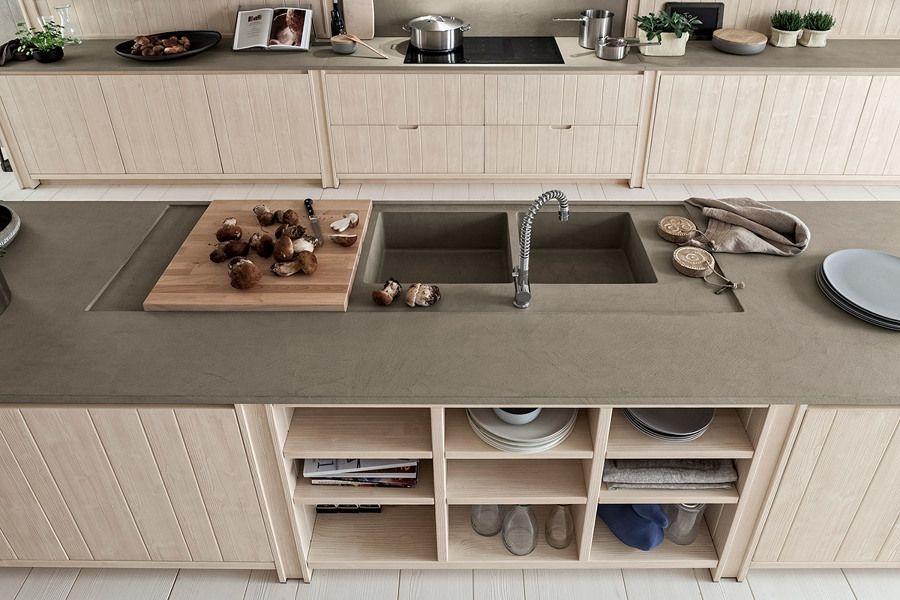 Risultati immagini per piano cucina cemento legno | INT_Furniture ...